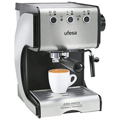 Ufesa CE7141 Duetto Creme - Cafetera Expresso, 1050W, 15 Bares...