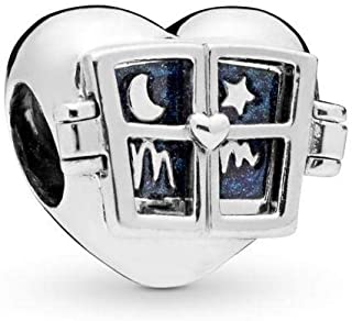 Window Heart 925 Sterling Silver Charm - 798006EN63