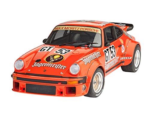 Revell Modellbausatz Auto 1:24 - Porsche 934 RSR Jägermeister im Maßstab 1:24, Level 3, originalgetreue Nachbildung mit vielen Details, 07031