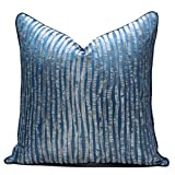 LYRRHT Funda De CojíN Funda De Almohada De Rayas Verticales Moderna Sofá Cama Sala De Estar Funda De Almohada De Lujo Azul Marino 30cm*50cm