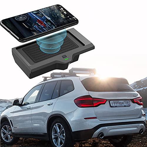 ElecPjf Accesorios Inalámbricos para BMW X3 G01 2018 2019 2020 2021 BMW X4 2019 2020 2021, 10W Carga Rápida Teléfono Cargador Pad para iPhone 13/12/11/11 Pro MAX Samsung S10 / S9