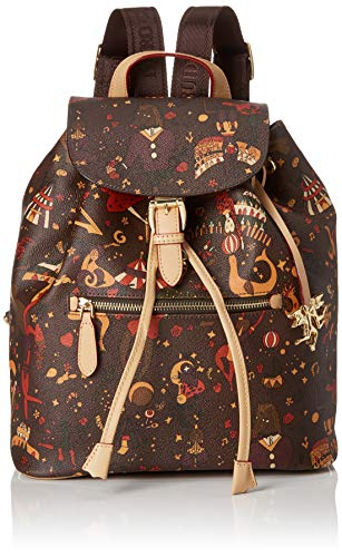piero guidi Back Pack, Zaino Donna, Marrone (T.Moro), 26x30.5x14.5 cm (W x H x L)