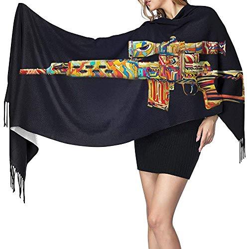 Merle House Hermoso juguete estampado cachemir bufanda para mujer casual cálido bufanda abrigo chal grande