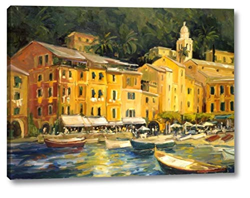 "Lake Como Hotel by Allayn Stevens - 15"" x 20"" Canvas Art Print Gallery Wrapped - Ready to Hang"