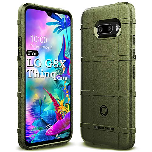 Sucnakp for LG G8X ThinQ Case LG V50S ThinQ Case Heavy Duty Shock Absorption Phone Cases Impact Resistant Protective Cover for LG G8X ThinQ(New Army Green)