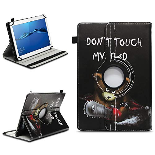 NAmobile Schutzhülle kompatibel für Huawei MediaPad T1 T2 T3 T5 10 Tablet Hülle Tasche Schutzhülle Hülle 360 Drehbar, Farben:Motiv 12