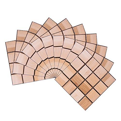 Leileixiao 10 x 10 cm mosaico autoadhesivo azulejos pared pegatinas de vinilo baño cocina decoración hogar DIY PVC pegatinas 10 piezas (color: B08)