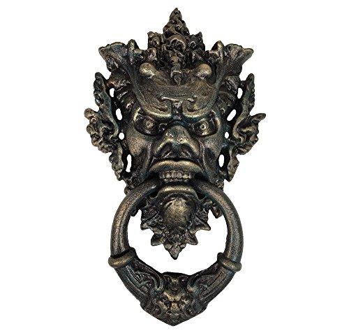 zeitzone Türklopfer Teufel Gothic Gusseisen Teufelsfratze Antik Stil Devil Halloween
