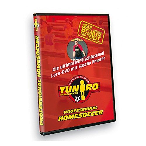 Tuniro® Tischfussball Lern DVD Tischkickerzubehör Kicker Kickertisch Training Professional Homesoccer
