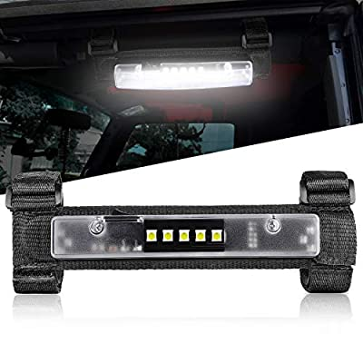 Nirider UTV Interior Light Universal Roll Bar Mount LED Light Utility Roll Cage Light Courtesy Light Interior Dome Light for UTV ATV Polaris RZR Can-Am Truck Car Off Road Vehicle