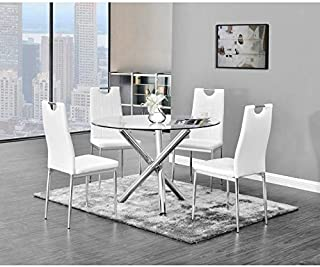 Amazon com: Glass Dining Table & Chair Sets