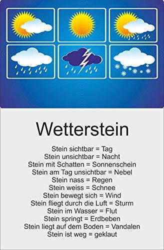 Melis Folienwerkstatt Schild - Wetter-Stein Wetter-Station - 30x20cm | Bohrlöcher | 3mm Aluverbund – S00352-001 20 VAR