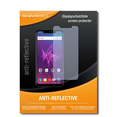 SWIDO Schutzfolie für Allview Soul X5 Pro [2 Stück] Anti-Reflex MATT Entspiegelnd, Hoher Festigkeitgrad, Schutz vor Kratzer/Bildschirmschutz, Bildschirmschutzfolie, Panzerglas-Folie