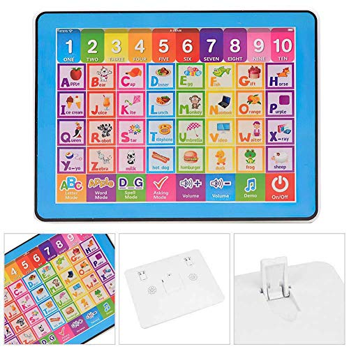 Trading Innovation My First Tablet - 24x19cm, Kids Laptop w/ Touch Controls | Educational English Learning Game | Kids Musical Toys - Blue