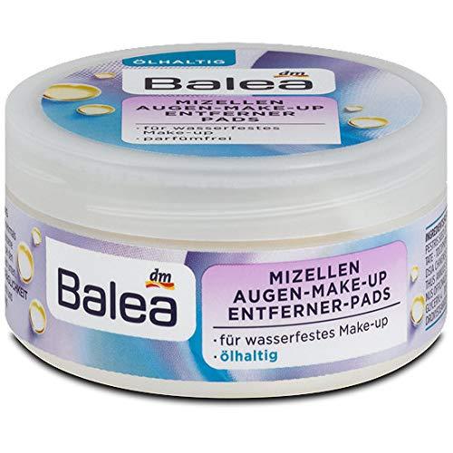 Balea Augen Make-Up Entferner Pads mit Waterproof ölhaltig, 2er Pack(2 x 50 Stück)