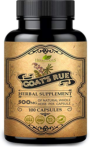 HERBALICIOUS Goat's Rue Capsules 500mg - Organic Goats Rue Herbal Supplement - Natural Galega Officinalis for Breast Feeding - Breastmilk Production & Weight Loss Food Supplement Support - 100 Caps