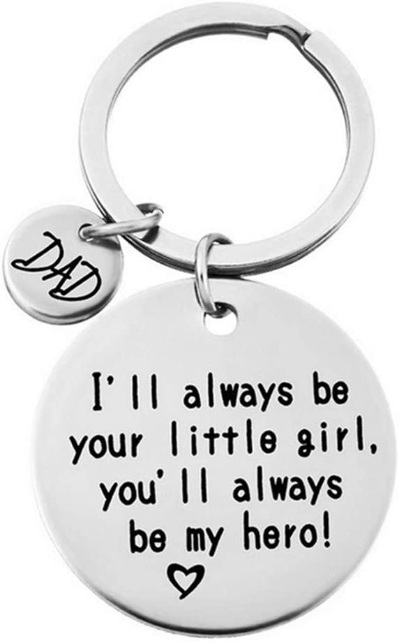 Dearanswer Alloy Father's Day Keychain Text Personalized Keyring Encouraging Love Keychain