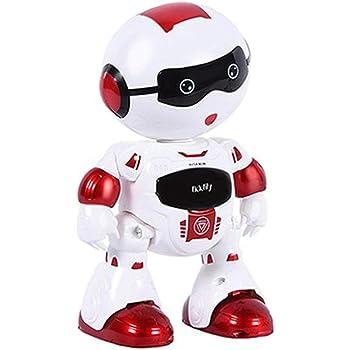 ロボット プログラミングロボ スマート 人型ロボット – Happytime LZ19001 フレンドリー インテリジェント 音楽ダンス LEDライト おもちゃ (Red)