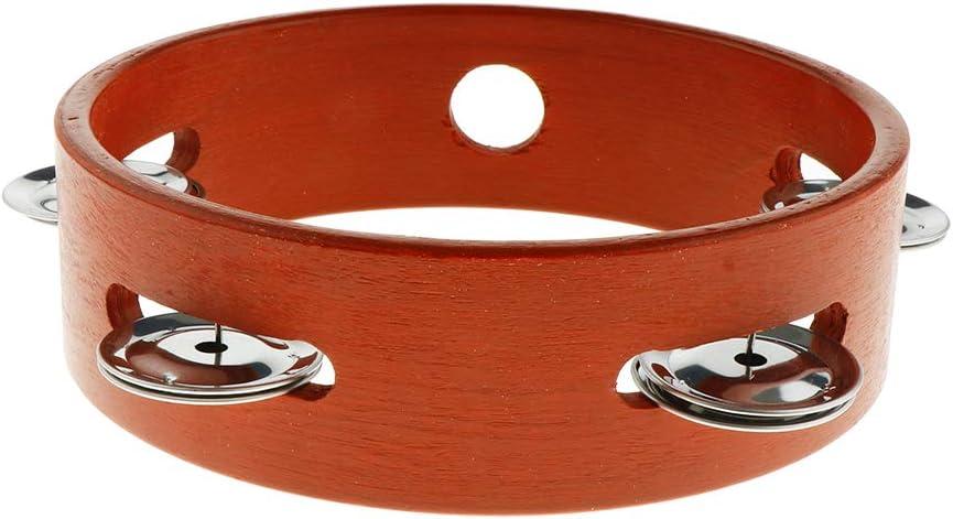 YIJU Finest Wooden Hand Drum Minneapolis Mall Single Row 15 Jingle Bells Handbell Special price