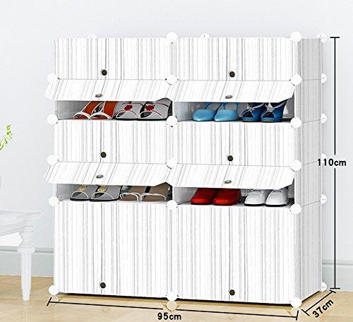 Chaussure Combinaison de Rangement de Multifonctions de Grande capacité, Support de Anti-poussière Multi-Magasin, Coffret de en résine de ménage en Plastique
