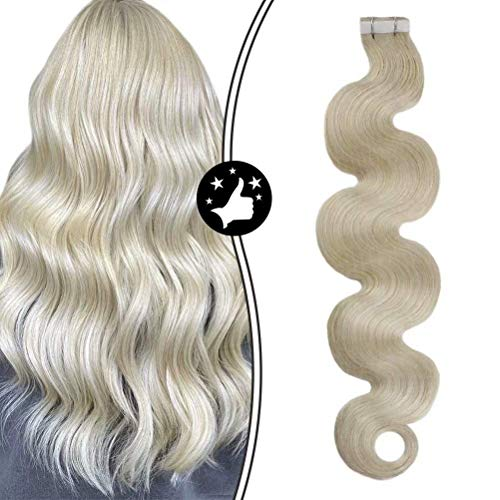 Moresoo Platinum Blonde Body Wave Extension