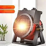 LHFD Ventilador de calefacción, Calentador de Ventilador eléctrico portátil, Calentadores de Patio de Acero Inoxidable Lámpara de Calor Ajustable Calefacción de Patio para Exteriores