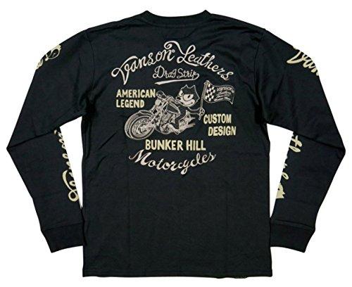 (バンソン)VANSON × FELIX THE CAT コラボ フィリックス ザ キャット 刺繍 ロンT XL BLACK(ブラック)