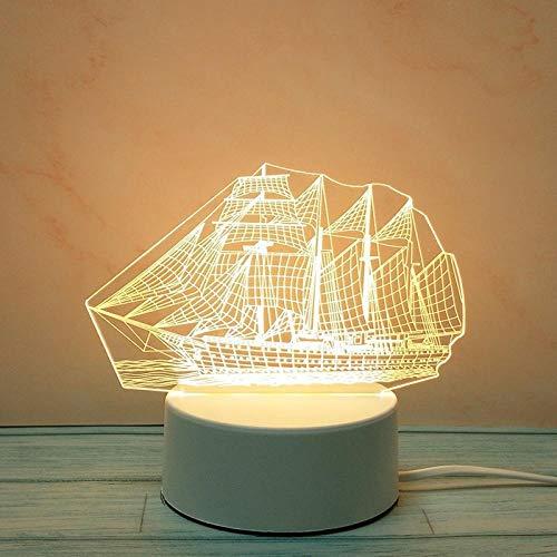 Tatapai Luces de noche 3D creativas estéreo, lámpara de mesa amor, padres, enchufe, DIY dibujos animados-Plug luz de tres colores