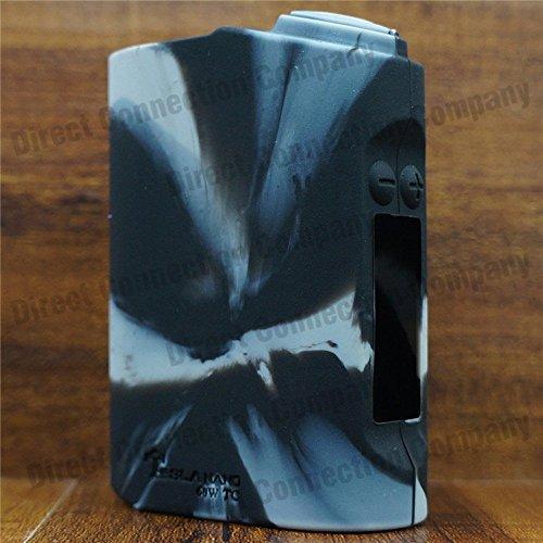 Silicone Case for TESLA NANO 60W TC Skin Sleeve Cover Wrap (Grey/Black)