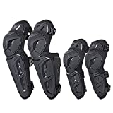 SCOYCO Knee-and-Shin Guards Elbow Guards Anti-slip for Men 4Pcs-2 in 1 Protector Adjustable Powersport Protection/Motorbike/Racing/Motorcycle K26H26