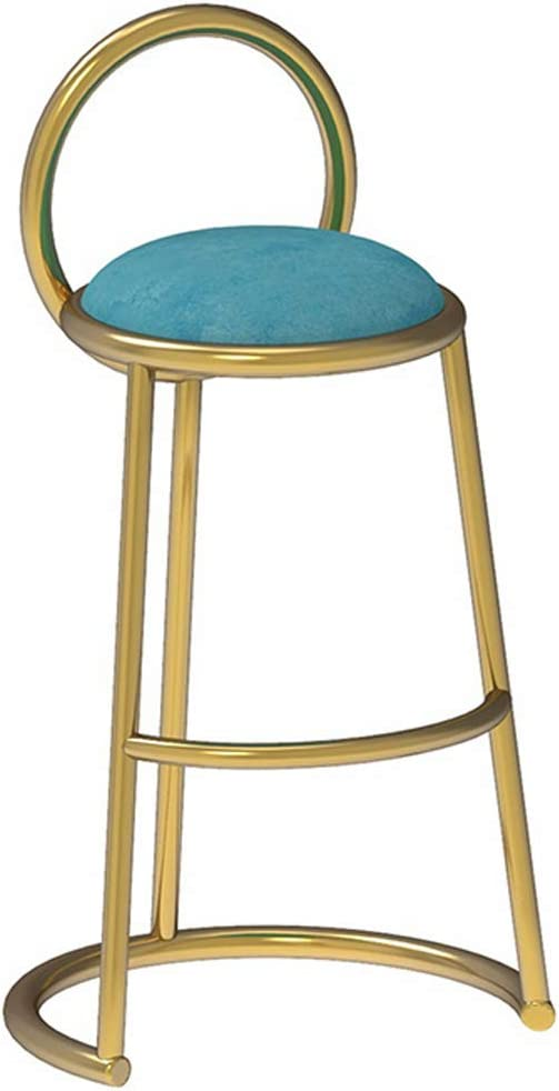 ZZL - Barstools Bar Stools,Light Luxury Style Metal Height Stools Chairs,Breakfast Footstool for Pub Coffee Counter Dinning Kitchen,Max Load 200kg - Height 65/75cm
