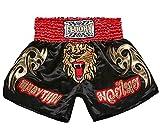 FLUORY Muay Thai Shorts, MMA Fight Shorts Ropa de Entrenamiento Jaula Lucha Grappling Artes Marciales Kickboxing Shorts Ropa