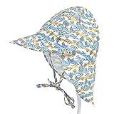 PoeHXtyy Baby-Flap-Sonnenschutzhut mit Unisex-Verstellbarer Badehut-Kappe