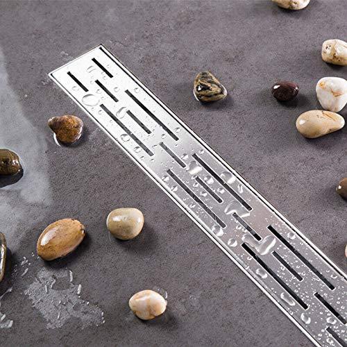 Sifón de ducha de pared de acero inoxidable 304, colador de pelo, altura de instalación variable-80 cm