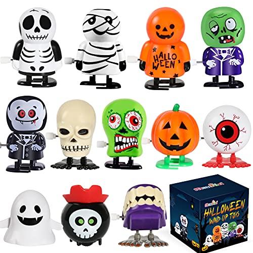 Max Fun 12pcs Halloween Wind Up Toys Assortment for Kids Halloween Party Favors Treat Bag Stuffers Goody Bag Filler Halloween Treats Prizes