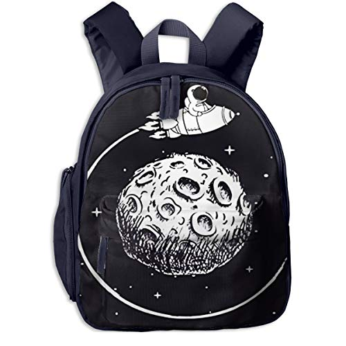 Mochilas Infantiles, Bolsa Mochila Niño Mochila Bebe Guarderia Mochila Escolar con Astronauta Espacial Sienta Nave Espacial para Niños De 3 A 6 Años De Edad