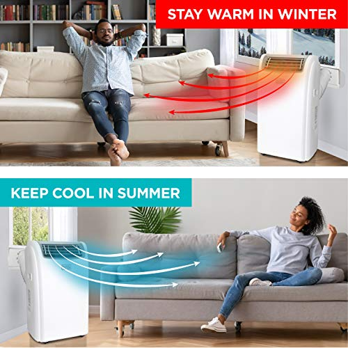 Black + Decker BPACT14HWT Portable Air Conditioner, 14,000 BTU w Heat, White