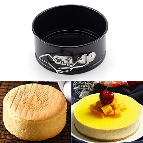 Springvorm Tins Sets, Nonstick Dichte taartvorm, bakblik met verwisselbare Loose Base, Ideaal for Cheesecakes en sponzen, 4in aijia