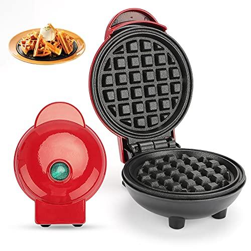 Mini Gofrera Eléctrica,RANJIMA Gofrera,Waffle Maker,Maquina de Gofres 3 en 1,Gofreras Pequeñas mini,Regulación Automática de la Temperatura para Paninis,Tortitas,Desayuno,Protección Sobrecalentamiento