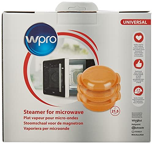 Wpro STM005 Plat Vapeur Ovale Easycook 2,5 L pour Fours Micro-Ondes
