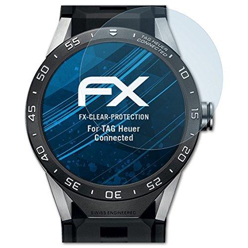 atFoliX Schutzfolie kompatibel mit Tag Heuer Connected Folie, ultraklare FX Bildschirmschutzfolie (3X)