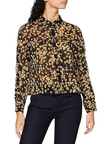 Tommy Jeans TJW Gather Detail Blouse Camisa, Estampado Floral, S para Mujer