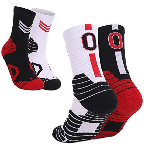 WELKANA Athletic Socks 2 Pairs, Men Women Basketball Socks Sports Socks,...