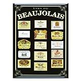 Souvenirs de France - Carte et Poster Métal 'Vins du Beaujolais' (40 x 30cm)