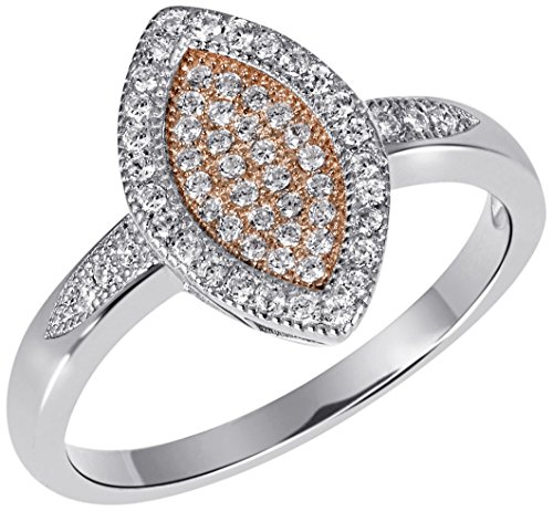 Goldmaid Damen-Ring 925 Sterling Silber rhodiniert Zirkonia weiß Gr.56 (17.8) Pa R6704S56 Schmuck