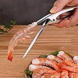 Alicates Deveiner de camarones, pelador de cangrejos de langostino de acero inoxidable, cuchillo de pelar mariscos, herramientas de cocina