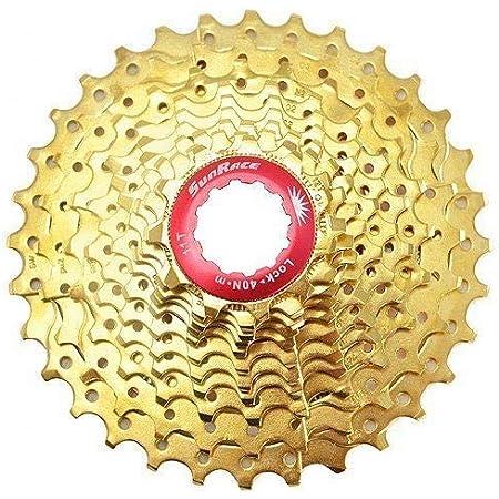 Sunrace CSRZ1 11 Speed Road Bike Cassette 11-32T, Gold #ST1686
