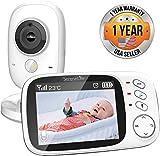 Moniteur Vidéo Sans Fil Pour Bébé SereneLife, Système de caméra pour surveiller le sommeil de l'enfant avec écran de 8,12 cm (3,2 po) et haut-parleur, Thermomètre, batterie rechargeable