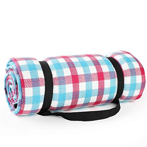 Simpeak Picknickdecke Wasserdicht Outdoor 150x200, Picknickdecke Wärmeisoliert für Strände/Picknicks/Parks/Camping und Outdoor-Aktivitäten Picknick Matte - Rosa