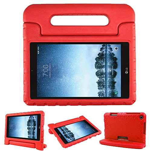 Bolete Case for LG G Pad F2 8.0 Sprint LK460, Kids Friendly Ultra Light Weight Shock Proof Super Protective Cover Handle Stand Case for LG GPad F2 8.0 Sprint Model LK460 8-Inch Android Tablet, Red